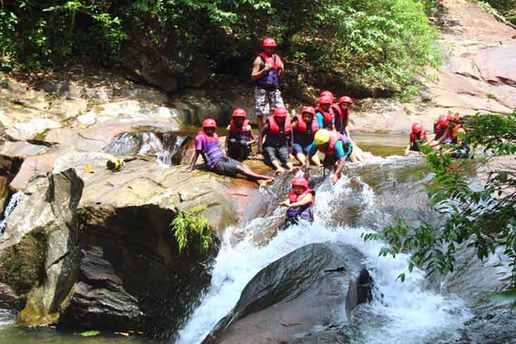 Waterfall Sliding