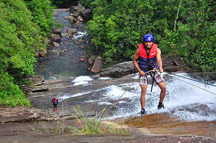 Waterfall Abseiling in Sri Lanka