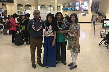 Mr. Tariq Choudhry Family Arrival